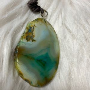 Agate Slab Cord Necklace